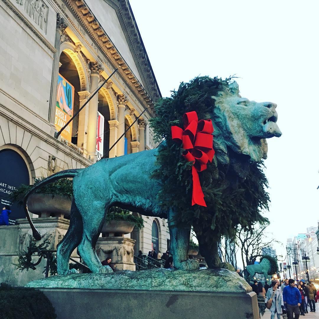Festive lion!