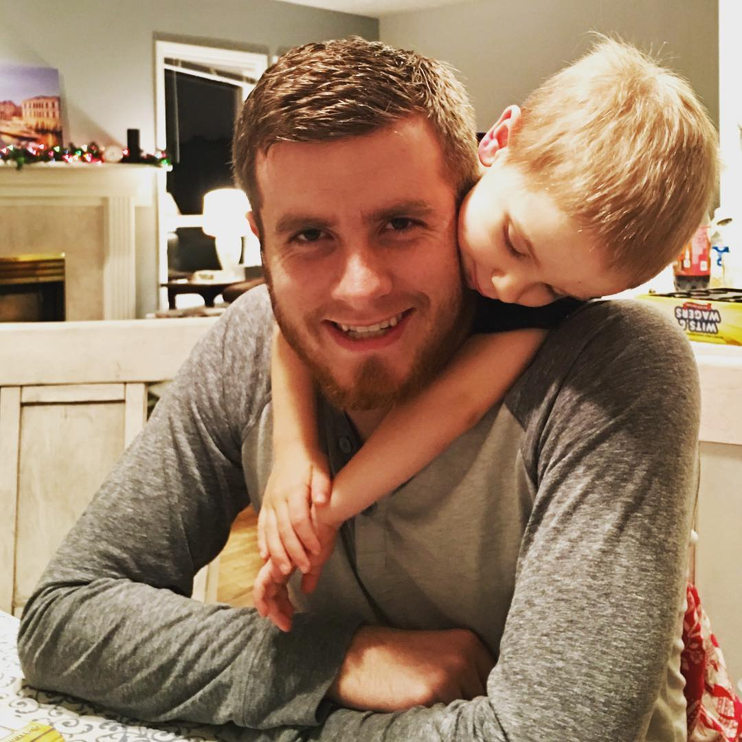 My brother nathanbarry and his youngest the adorable August