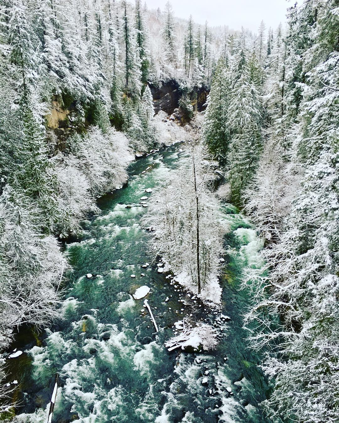 Green River Gorge in the snow