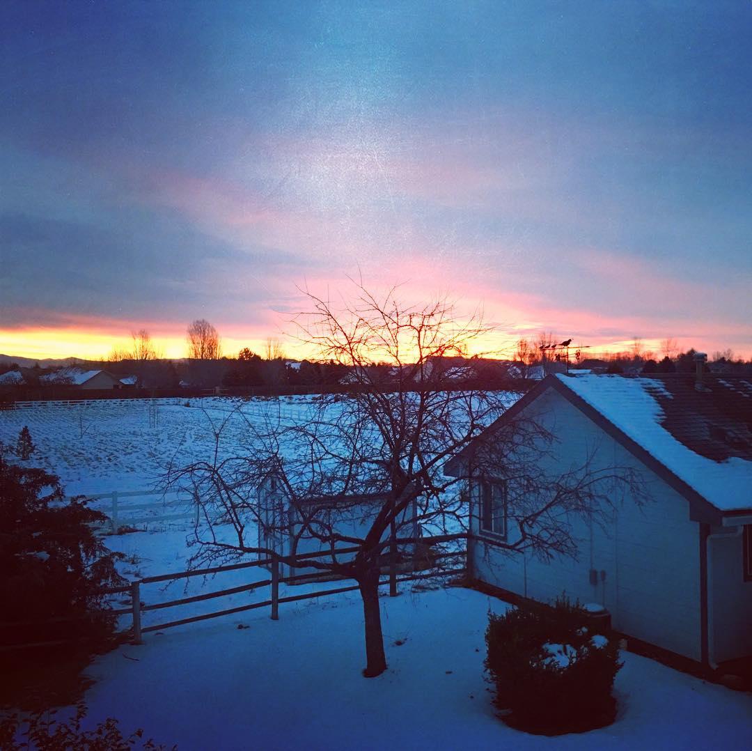 Sunrise at nathanbarrys farm